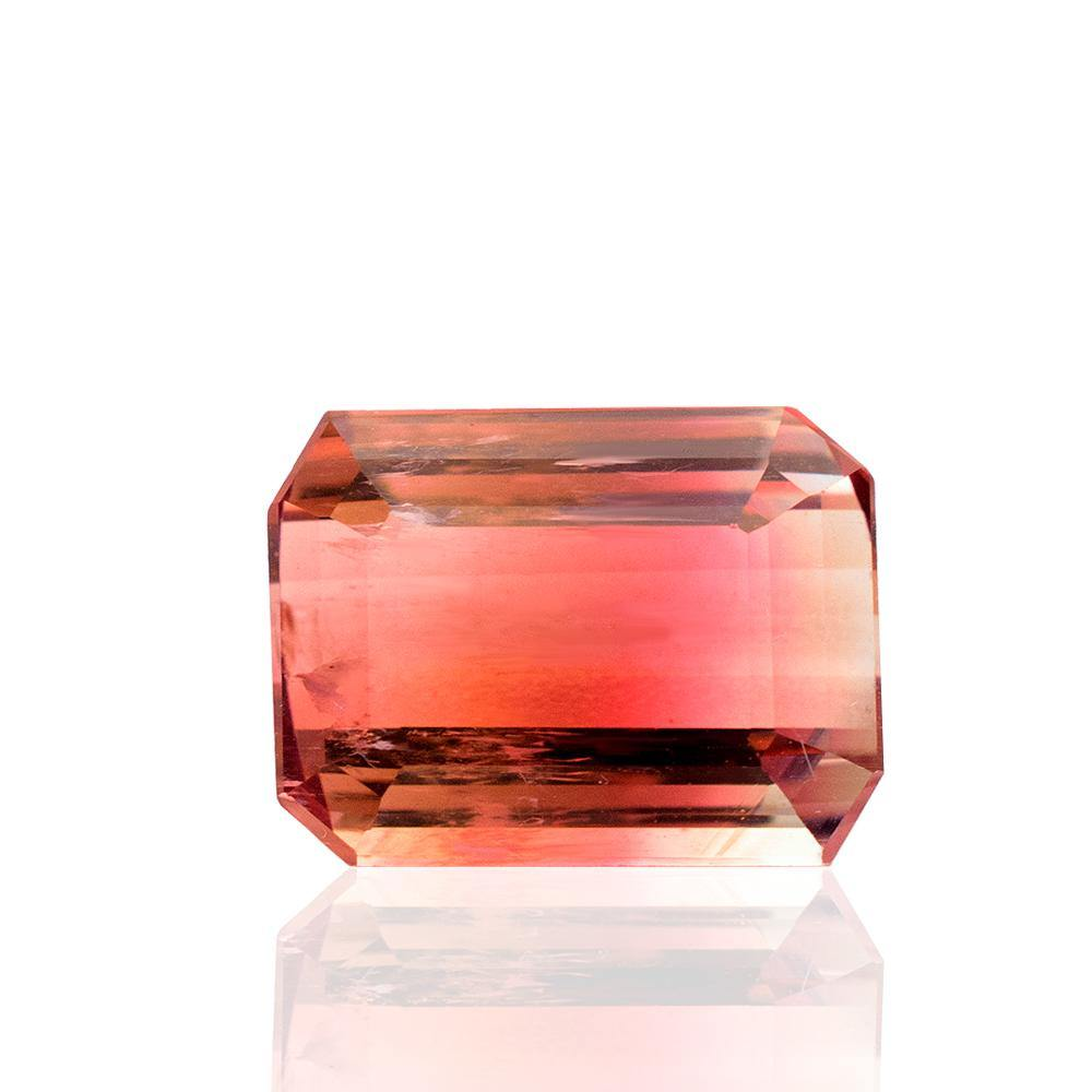 4.56 Carats Bi-Color Natural Tourmaline Gemstone | 11mm x 8mm