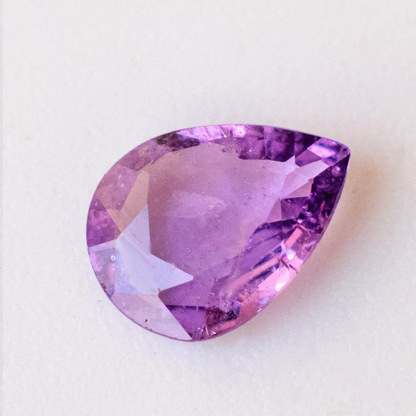 Purple Stone Purple Sapphire Pear Cut Gemstone | Modern Gem