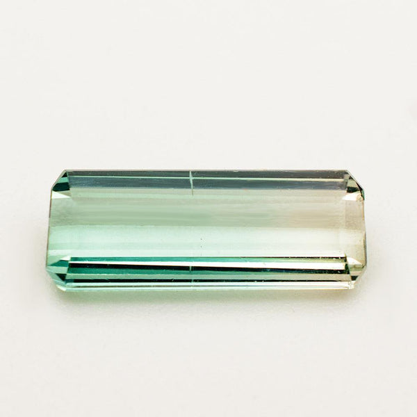 1.68 Carats Green Tourmaline Gemstone Emerald Cut | 12.6mm x 5mm