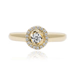 CARI • Pave´ Round Yellow Gold Natural Diamond Pave´ | Amour Collection