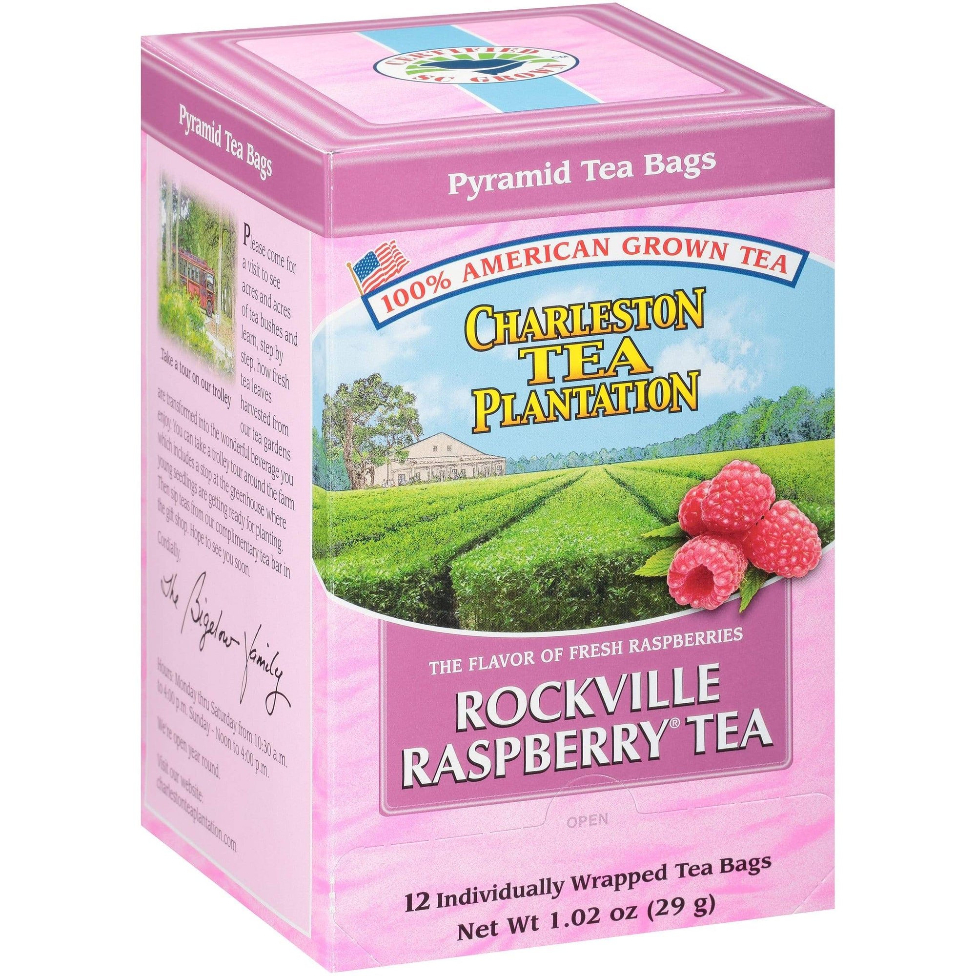 Charleston Tea Plantation Rockville Raspberry Tea (100% American)-VIVA Scandinavia