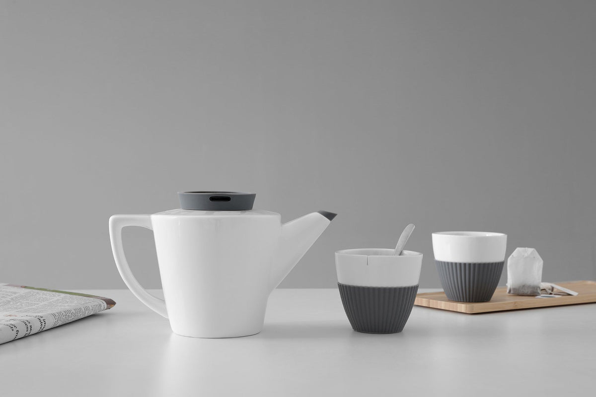 Infusion™ Porcelain Tea Set-VIVA Scandinavia | Color=ash grey