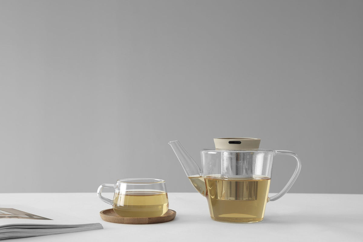 Infusion™ Glass Teapot - VIVA | Color=Buttermilk