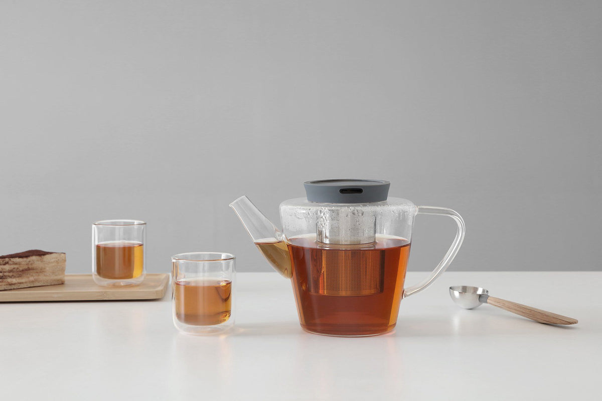 Infusion™ Glass Teapot - VIVA | Color=Stone grey