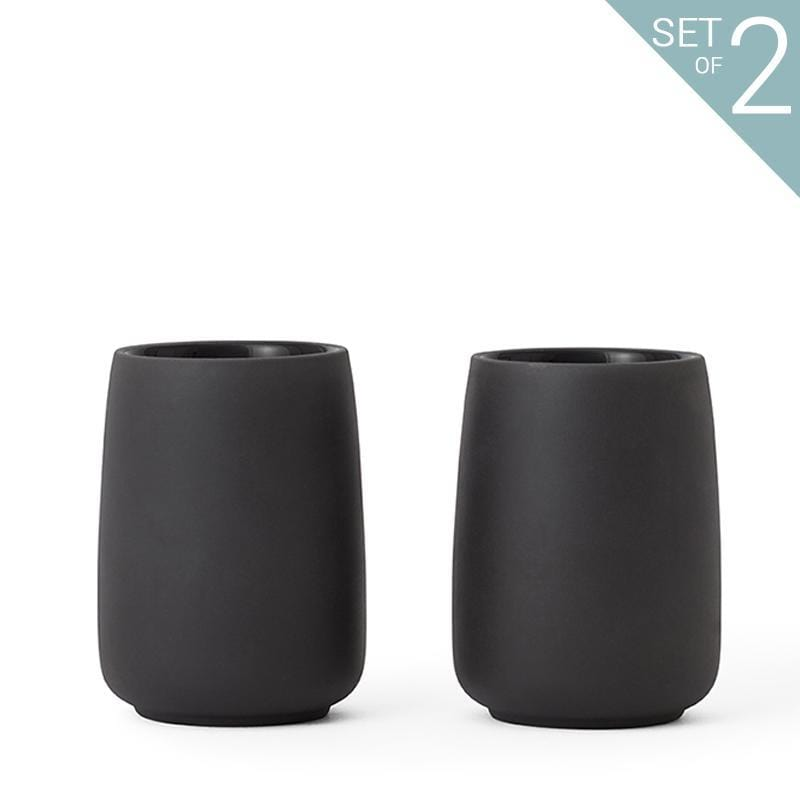 Nicola™ Tea Cup Large - Set Of 2 - VIVA | Color=Charcoal