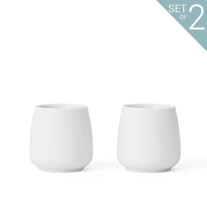 Nicola™ Tea Cup Small - Set Of 2-VIVA Scandinavia | Color=Pure white