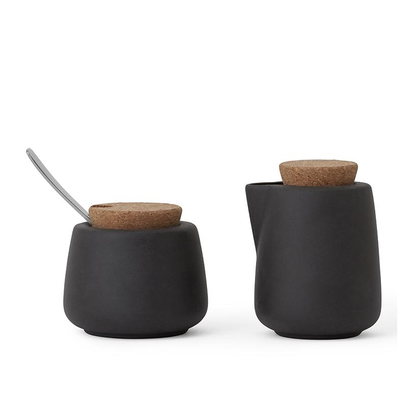 Nicola™ Milk And Sugar Set - VIVA | Color=charcoal
