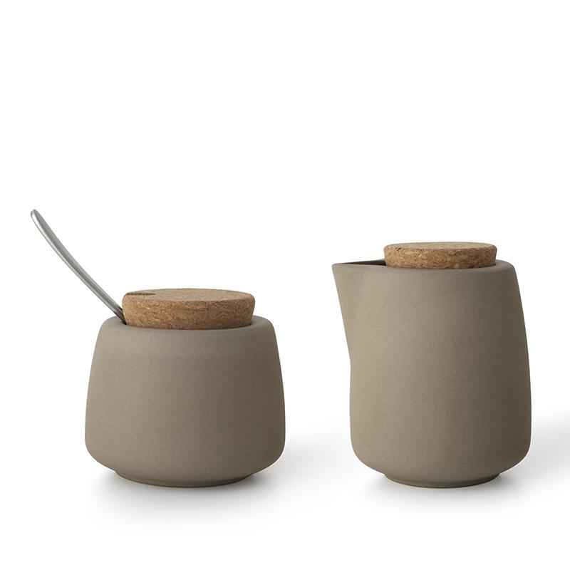 Nicola™ Milk And Sugar Set - VIVA | Color=dry brown