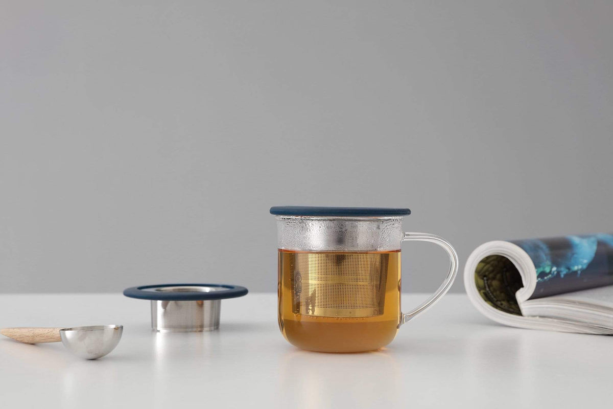 Infusion™ Collapsible Tea Strainer - VIVA | Color=midnight blue