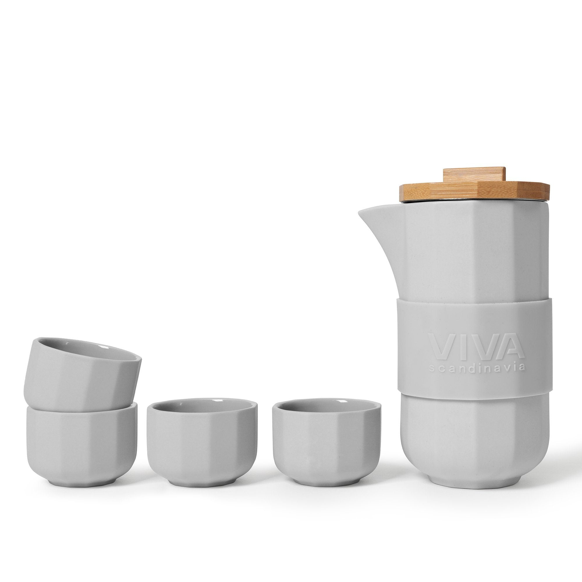 Alexander™ Tea Set - VIVA | Color=Light Gray