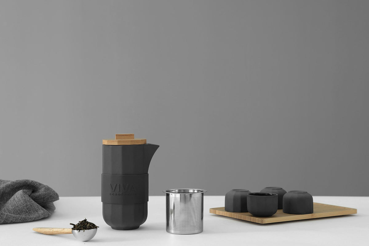 Alexander™ Tea Set - VIVA | Color=charcoal
