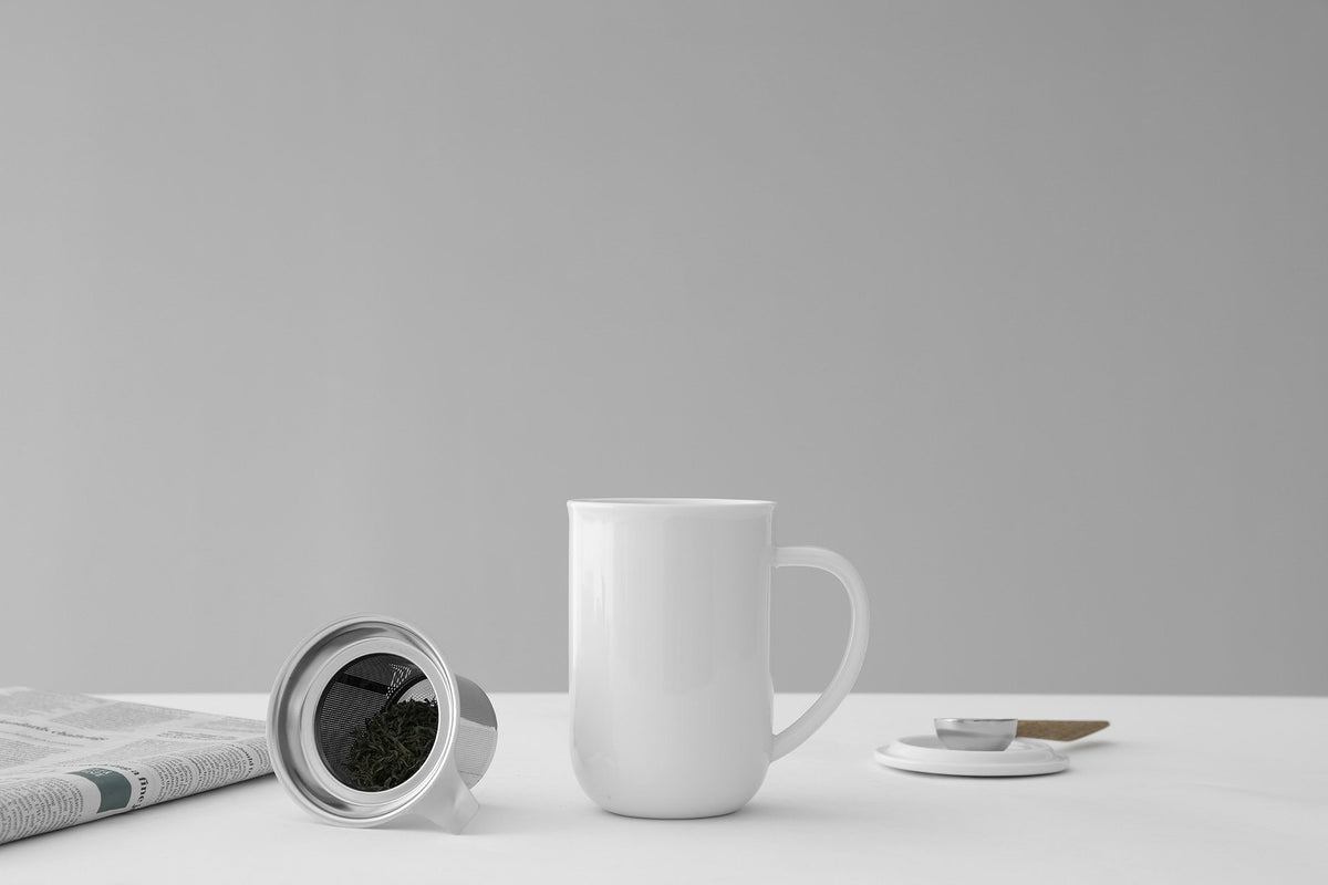 Minima™ Balance Tea Mug - VIVA | Color=Pure white