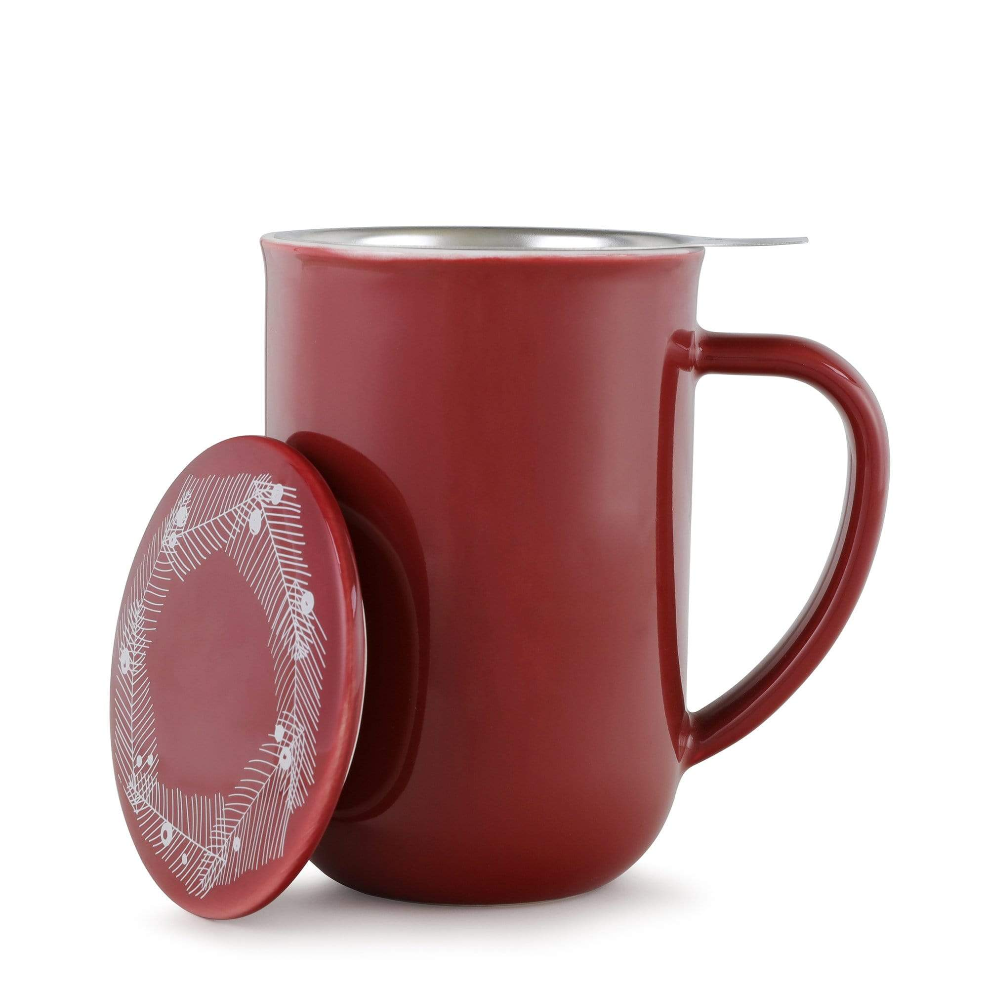 Minima ™ Balanced Winter Tea Mug - VIVA | Color=cranberry