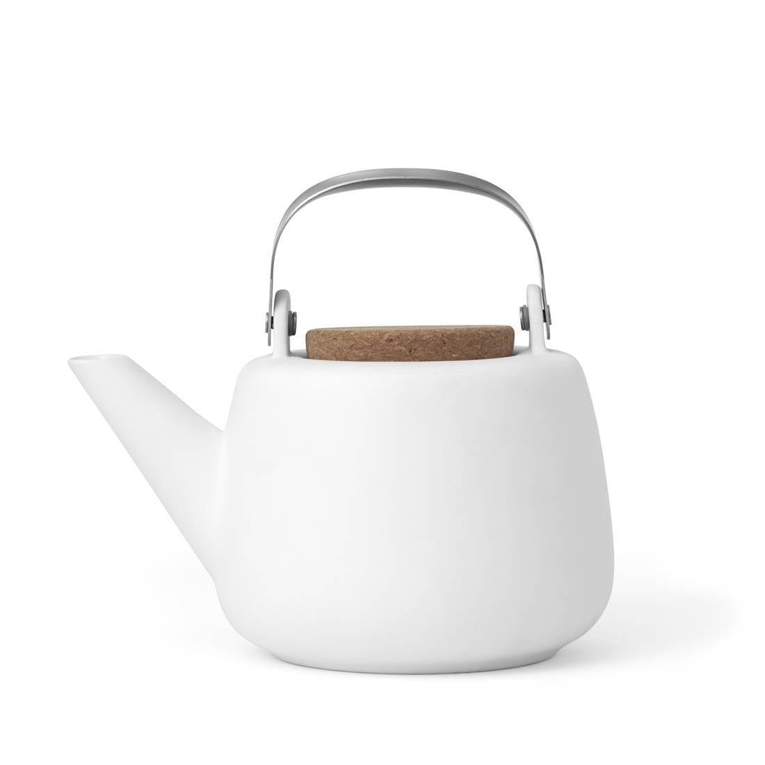 Nicola™ Porcelain Teapot - VIVA | Color=White