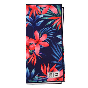 Cyan Floral tour towel