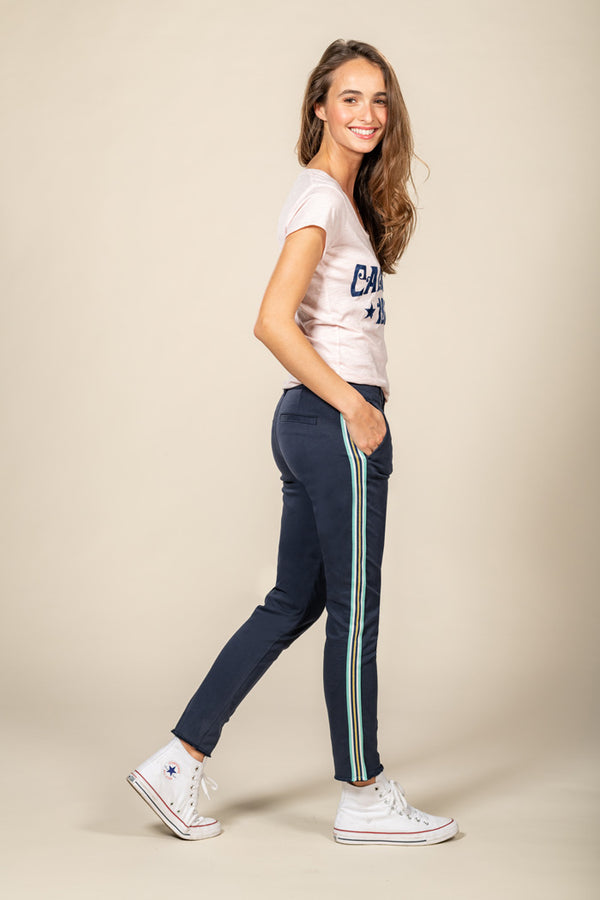 CATHY CIGARETTE PANT - NAVY