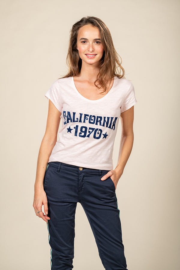 TEE SHIRT CALIFORNIA 1970 - PINK