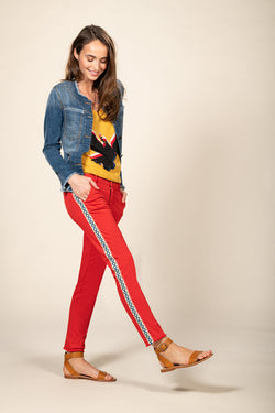CATHY CIGARETTE PANT - KETCHUP