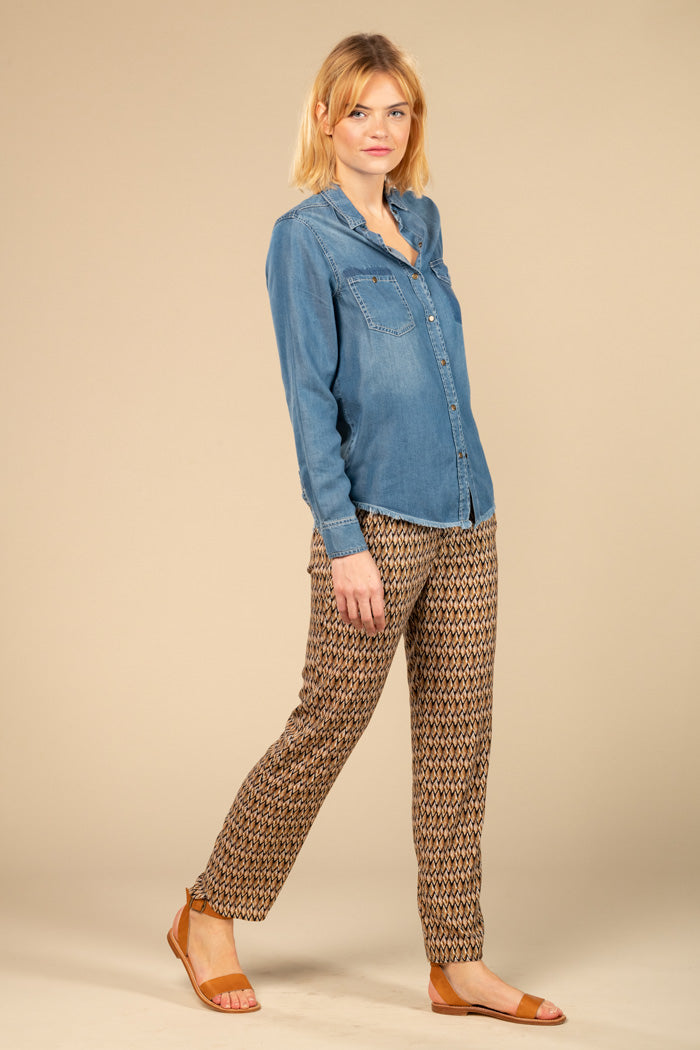 NELLY FLUID PANT  - BEIGE