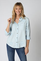 CHEMISE LAURA - BABY BLUE