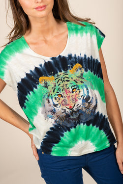 TEE SHIRT TIGER - EMERAUDE