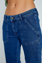 836 LYDIA JEANS FLARE TAILLE MI HAUTE - BLUE