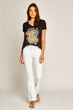 TEE SHIRT TIGER FLOWER - CARBONE