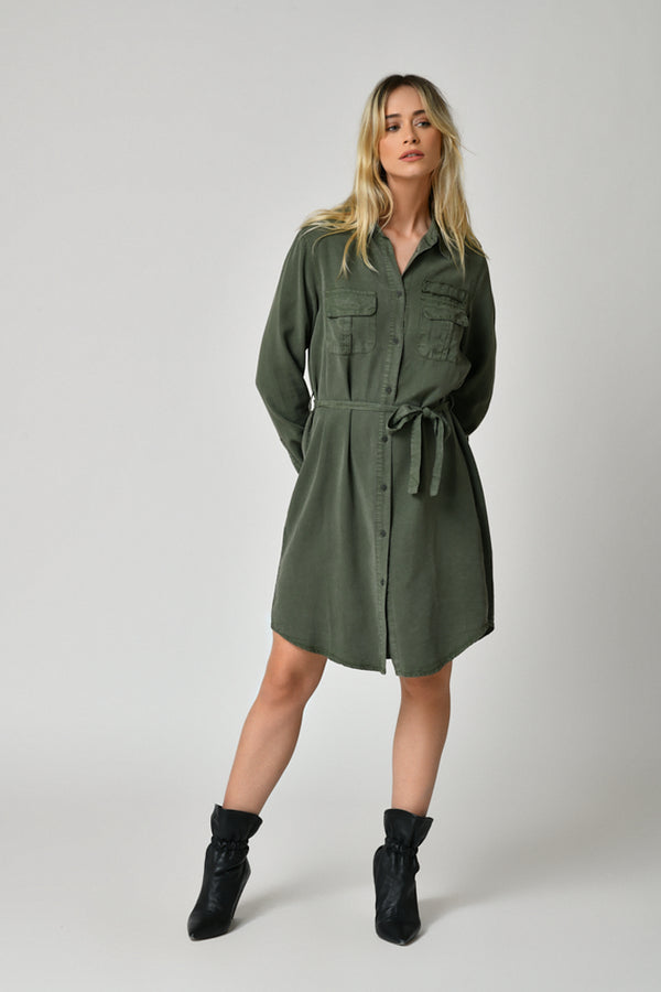 ROBE TENCEL - IVY GREEN