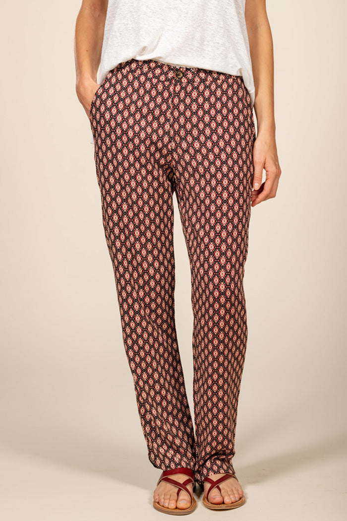 NELLY FLUID PANT  - HAVANE