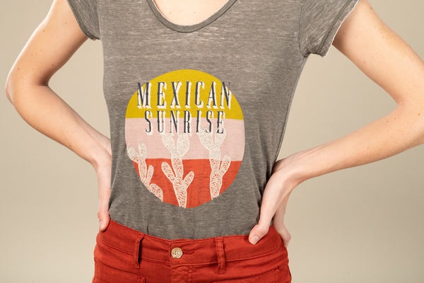 TEE SHIRT MEXICAN SUNRISE - ARMY