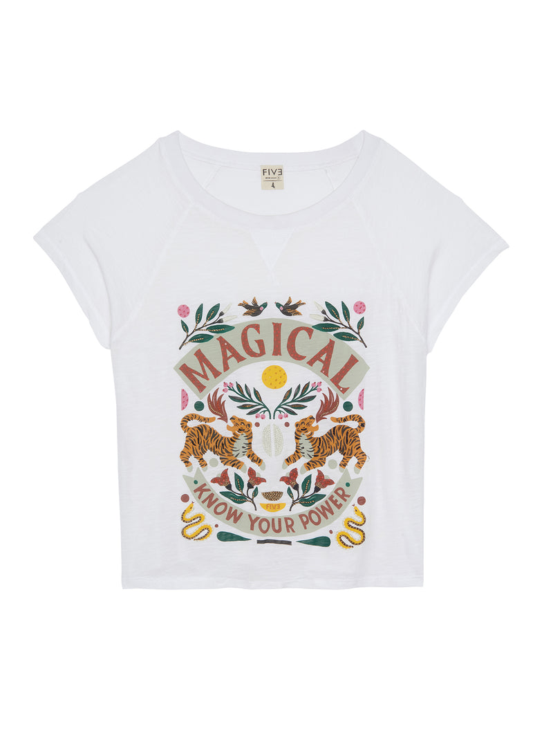 TEE SHIRT MAGICAL - BLANC