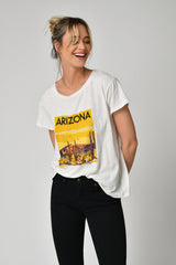 TEE SHIRT ARIZON - OFF WHITE