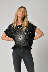 TEE SHIRT GALAXY - BLACK