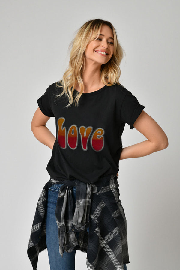TEE SHIRT LOVE - TIE AND DYE