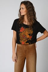 TEE SHIRT TIGER - NOIR