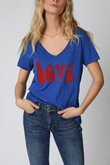 TEE SHIRT LOVE - FRENCH BLUE