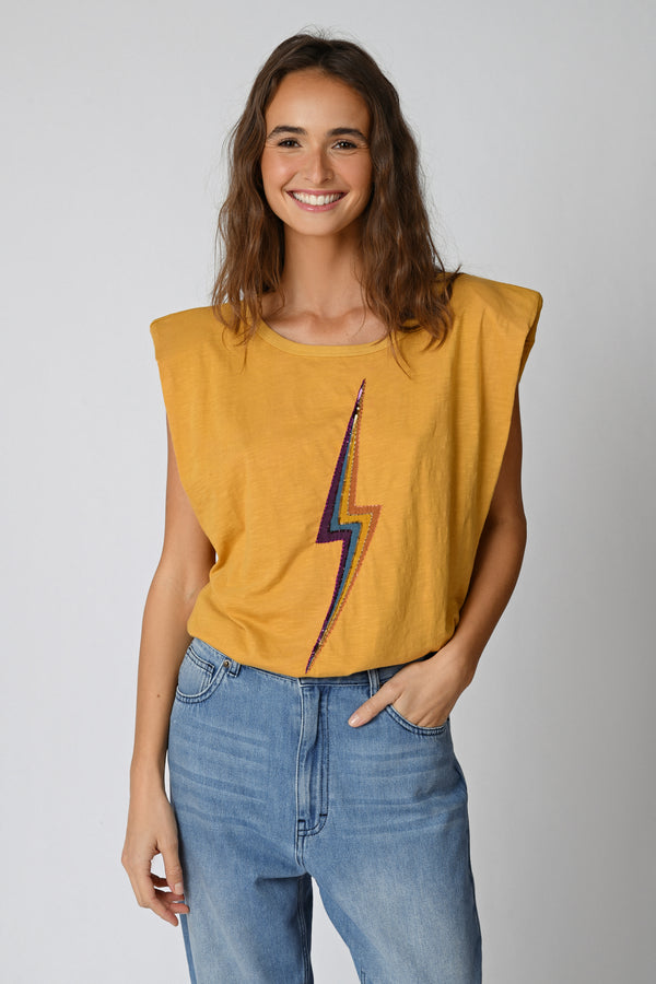 TEE SHIRT LIGHTNING - YELLOW