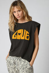 TEE SHIRT LOVE - CARBONE