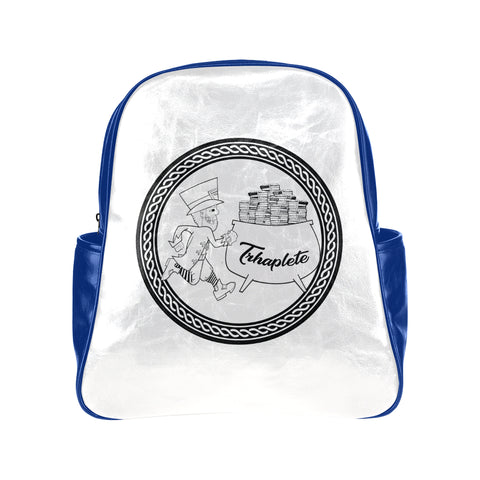 blue TRHAPLETE logo backpack Multi-pocket Backpack (Model 1636)