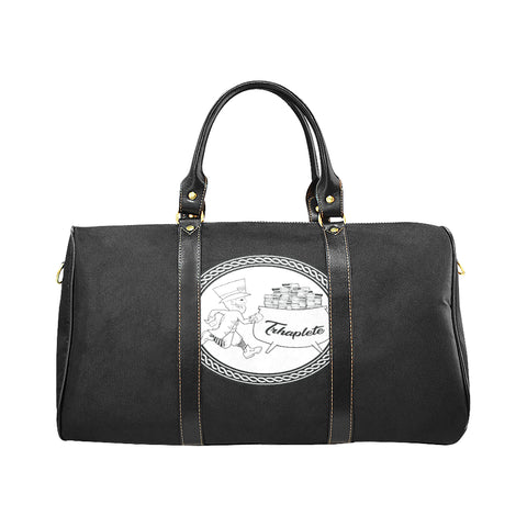 Black TRHAPLETE logo travel bag Travel Bag (Black) (Model1639)