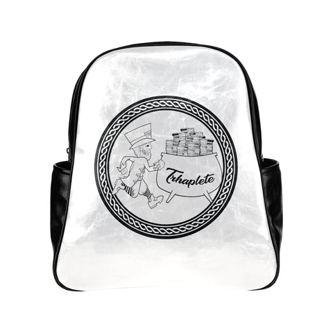 Black TRHAPLETE logo backpack Multi-pocket Backpack (Model 1636)