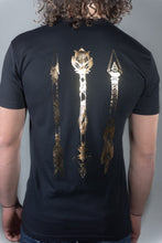 Load image into Gallery viewer, Tribal Arrows GOLD Foil T-Shirt
