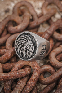 Trustless Chief Matte Stainless Steel Ring