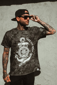 Take The Helm Black Tie Dye T-Shirt