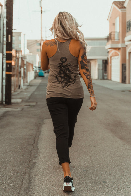 Women's- Take The Helm Army Tank