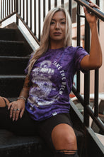 Load image into Gallery viewer, Take The Helm Purple Tie Dye T-Shirt