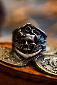 Dead Men Tell No Tales Pewter Ring