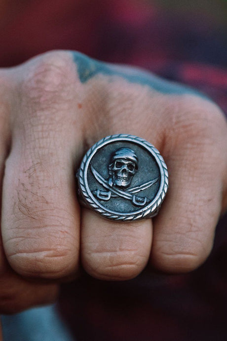 No Quarter Pewter Ring