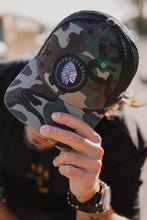 "Load image into Gallery viewer, Trustless Tribe ""Trucker"" Camo Snapback"