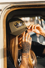 "Load image into Gallery viewer, No Quarter ""Trucker"" Snapback"